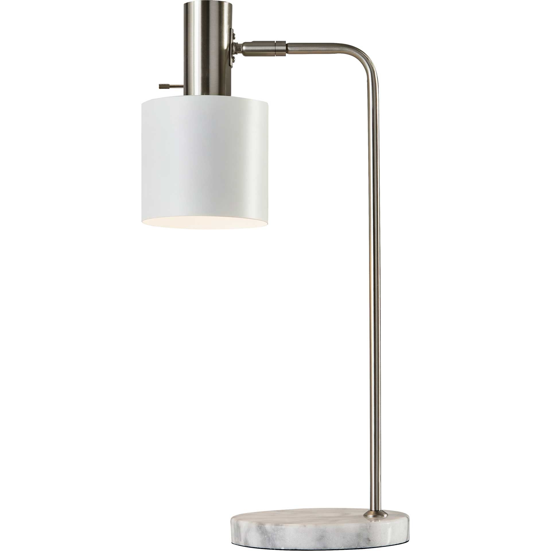 Epinal Desk Lamp Brushed Steel/White