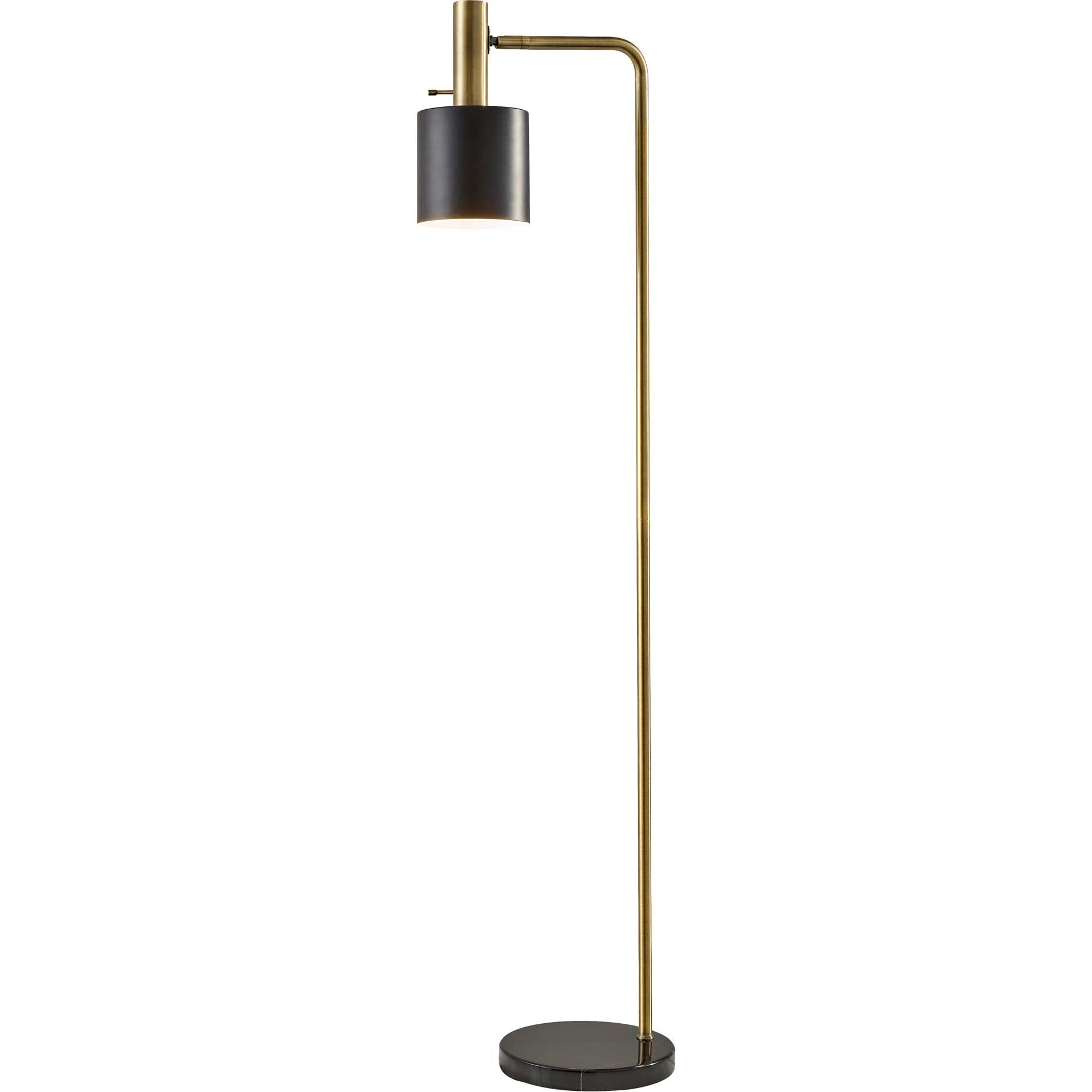 Epinal Floor Lamp Antique Brass/Black