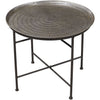 Hess Embossed Pewter Accent Table