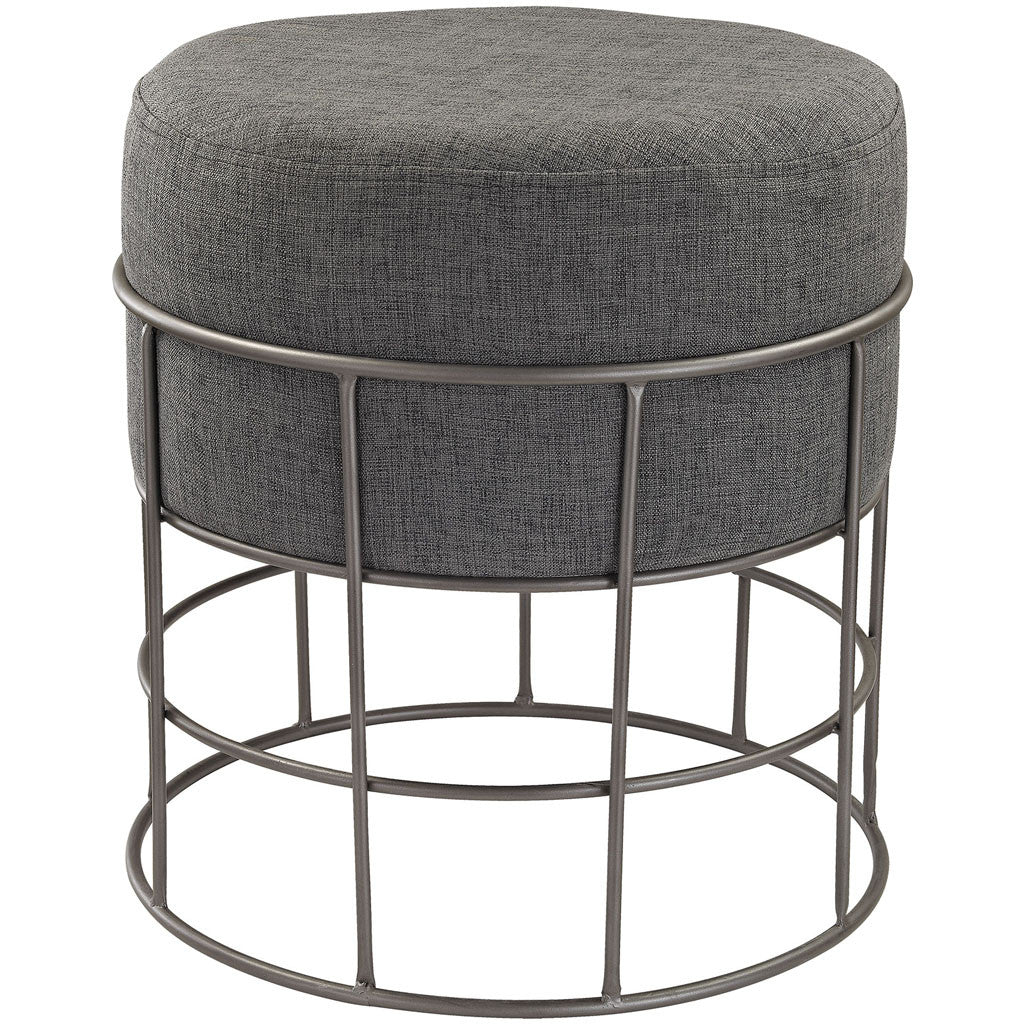 Holter Pewter/Gray Linen Stool