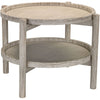 Marconi Driftwood Finish Side Table