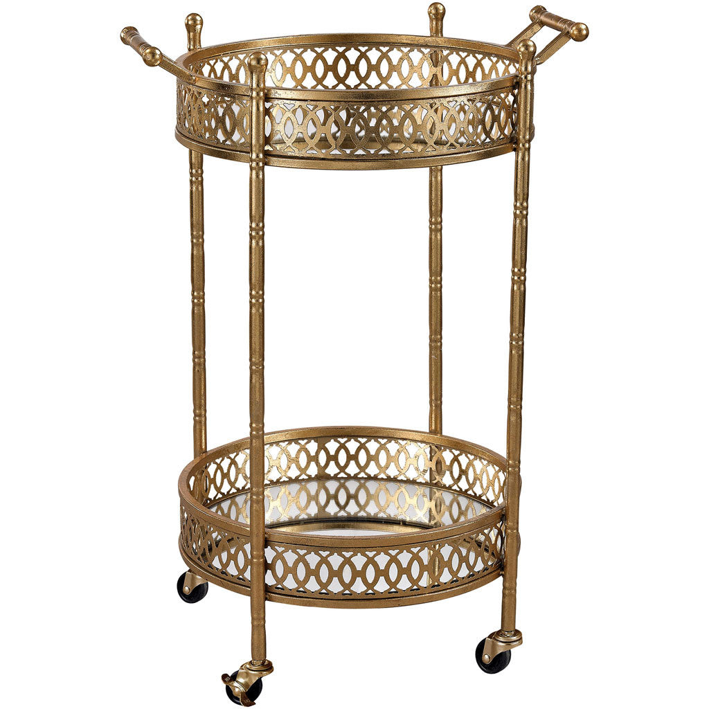 Eastman Banded Round Bar Cart