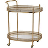 Eastman Banded Oval Bar Cart