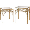 Eastman Gilded Bamboo Shelf Table (Set of 2)