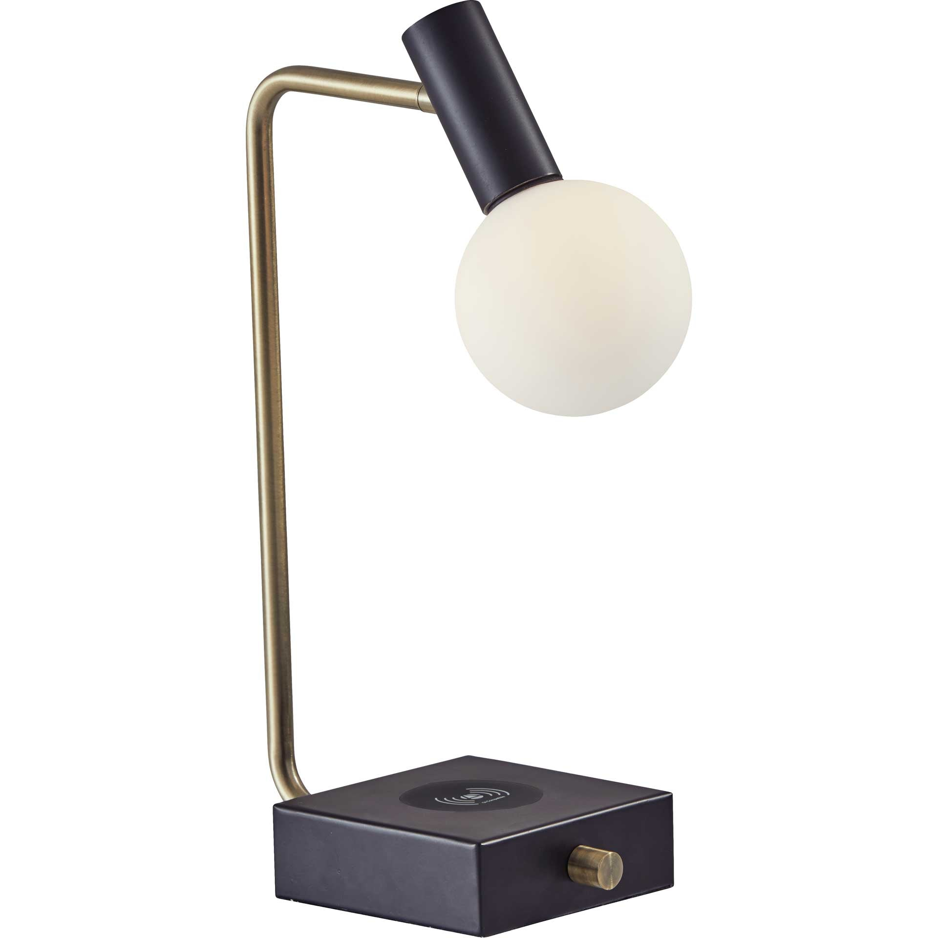 Wiltshire Wireless Charge Desk Lamp Black/Brass