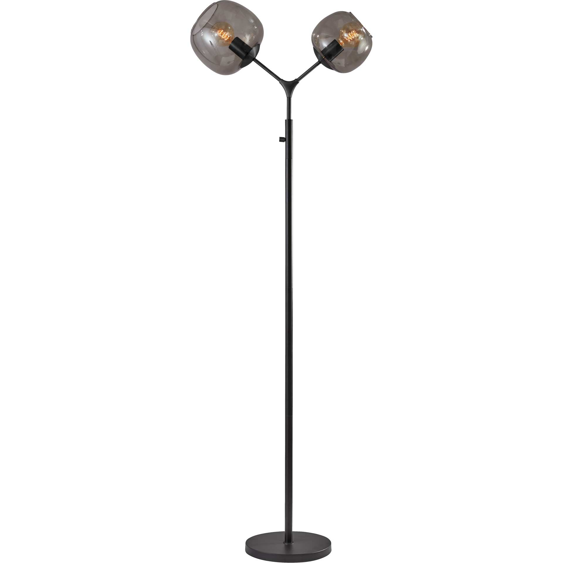 Ashland Tall Floor Lamp Brushed Steel