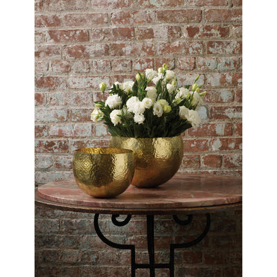 Tom Hammered Gold-Plated Brass Bowl