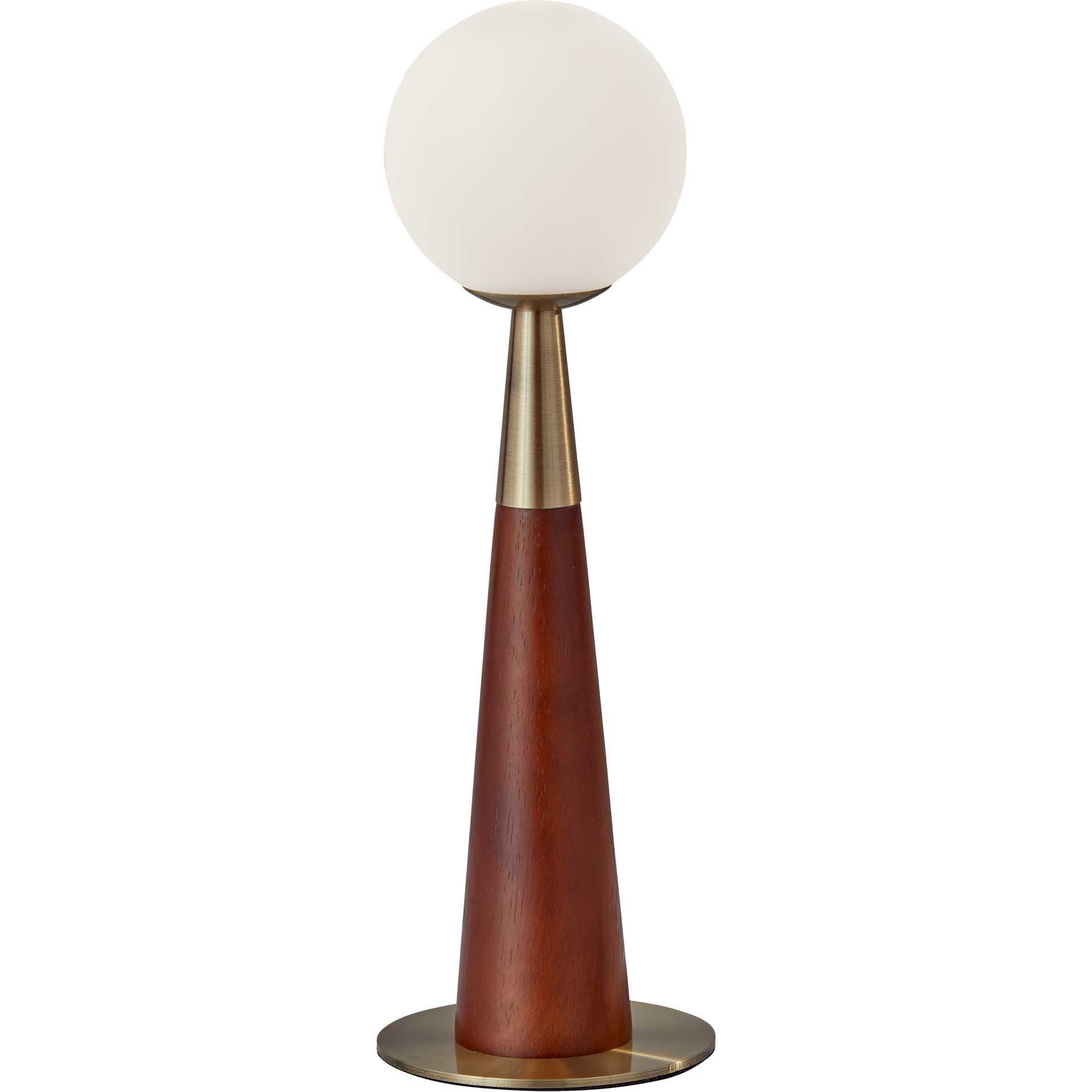 Pessac LED Accent Lamp Black/Walnut