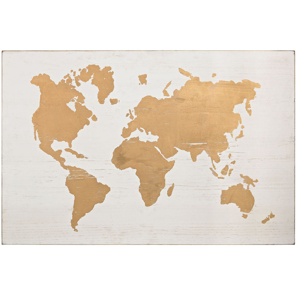 World map gold on wood froy world map gold on wood gumiabroncs Gallery