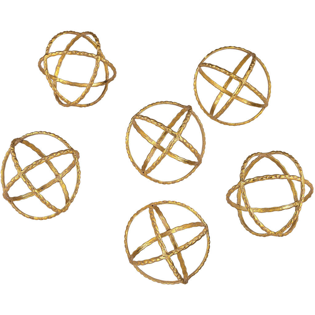 Otto Gold Orbs (Set of 6)
