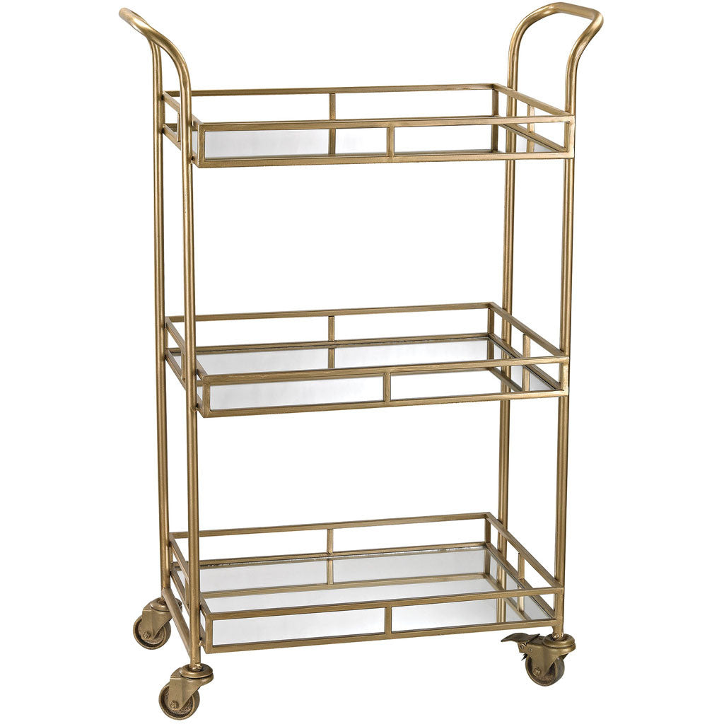 Ophelia Gold Bar Cart