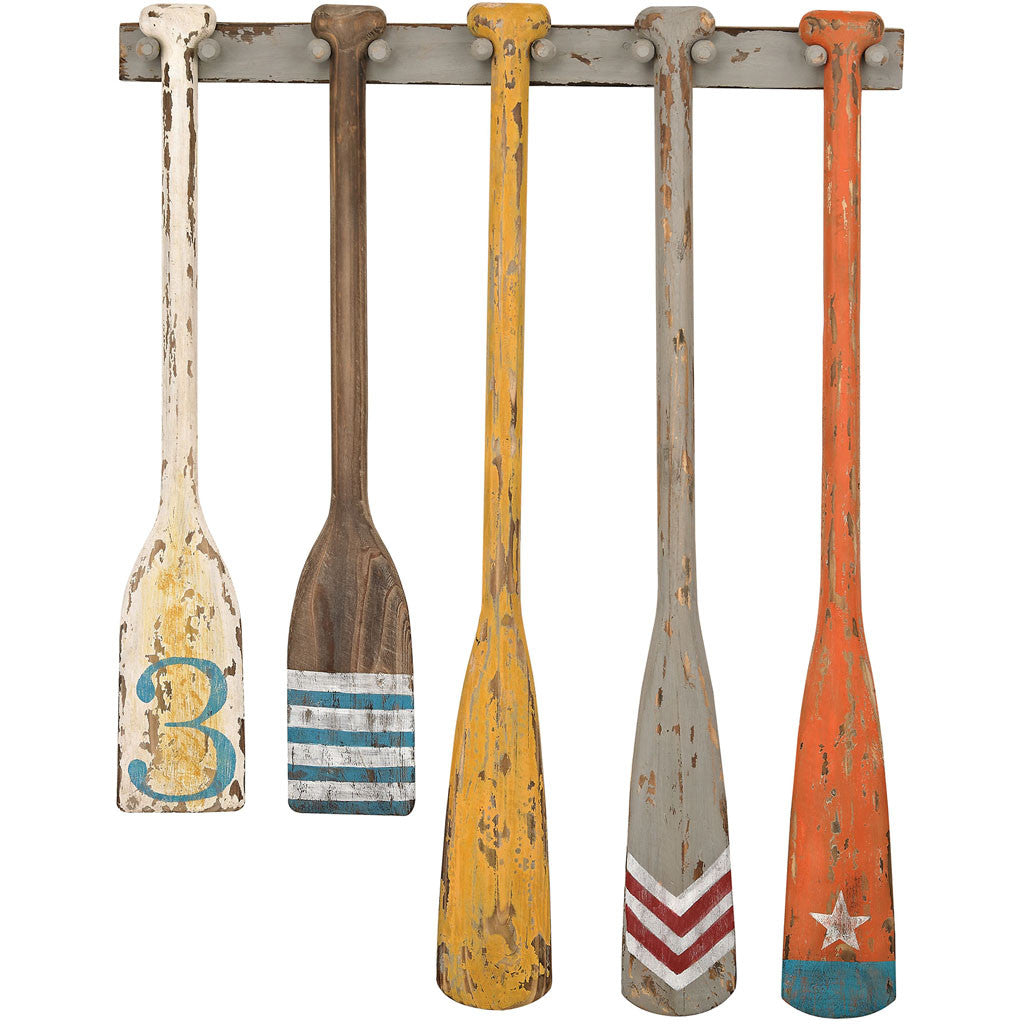 Hand Painted Oars Wall Display