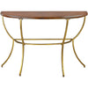 Ballard Walnut/Gold Console