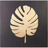 Palm Leaf Gold on Black