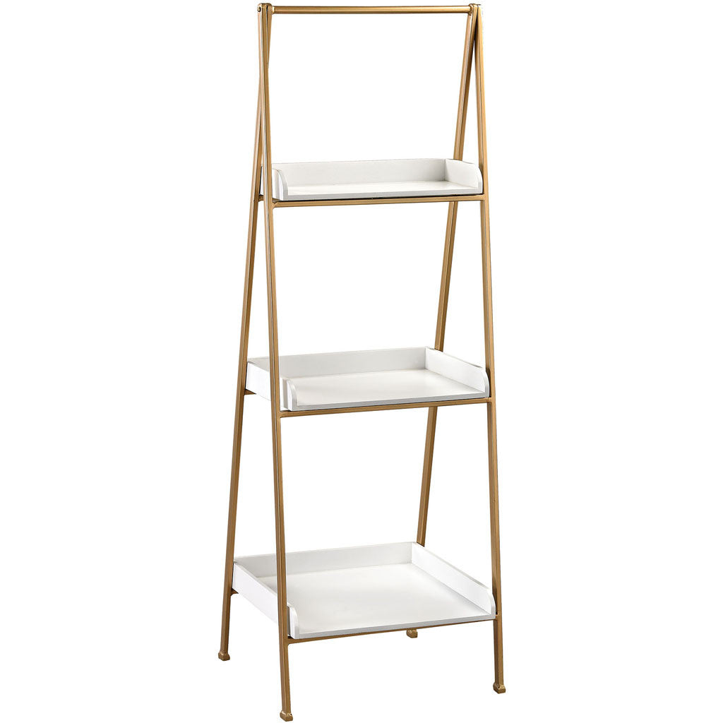 Fairfield White/Gold Accent Shelf