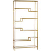 Ferra Gold/Mirrored Shelving Unit