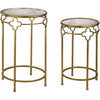 Ferra Gold Quatrefoil Stacking Table