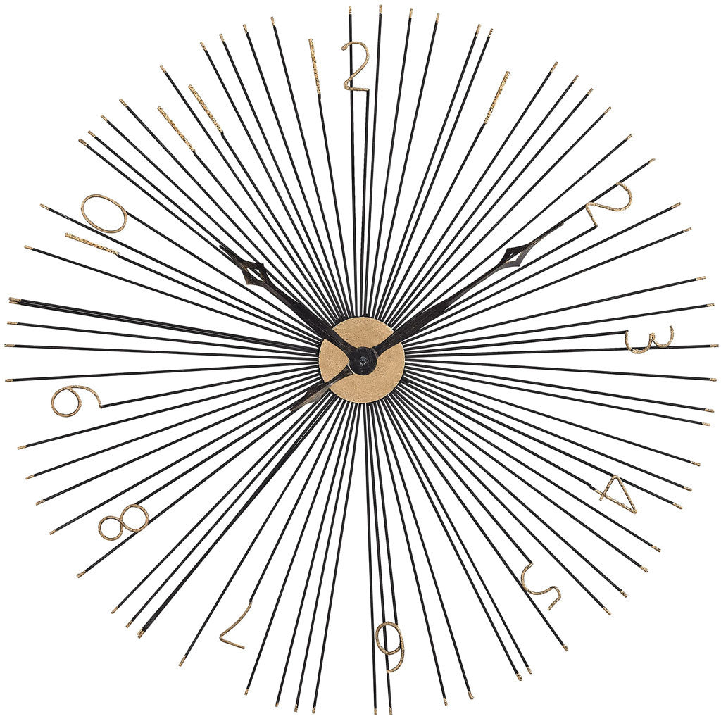Space Wall Clock Black/Gold