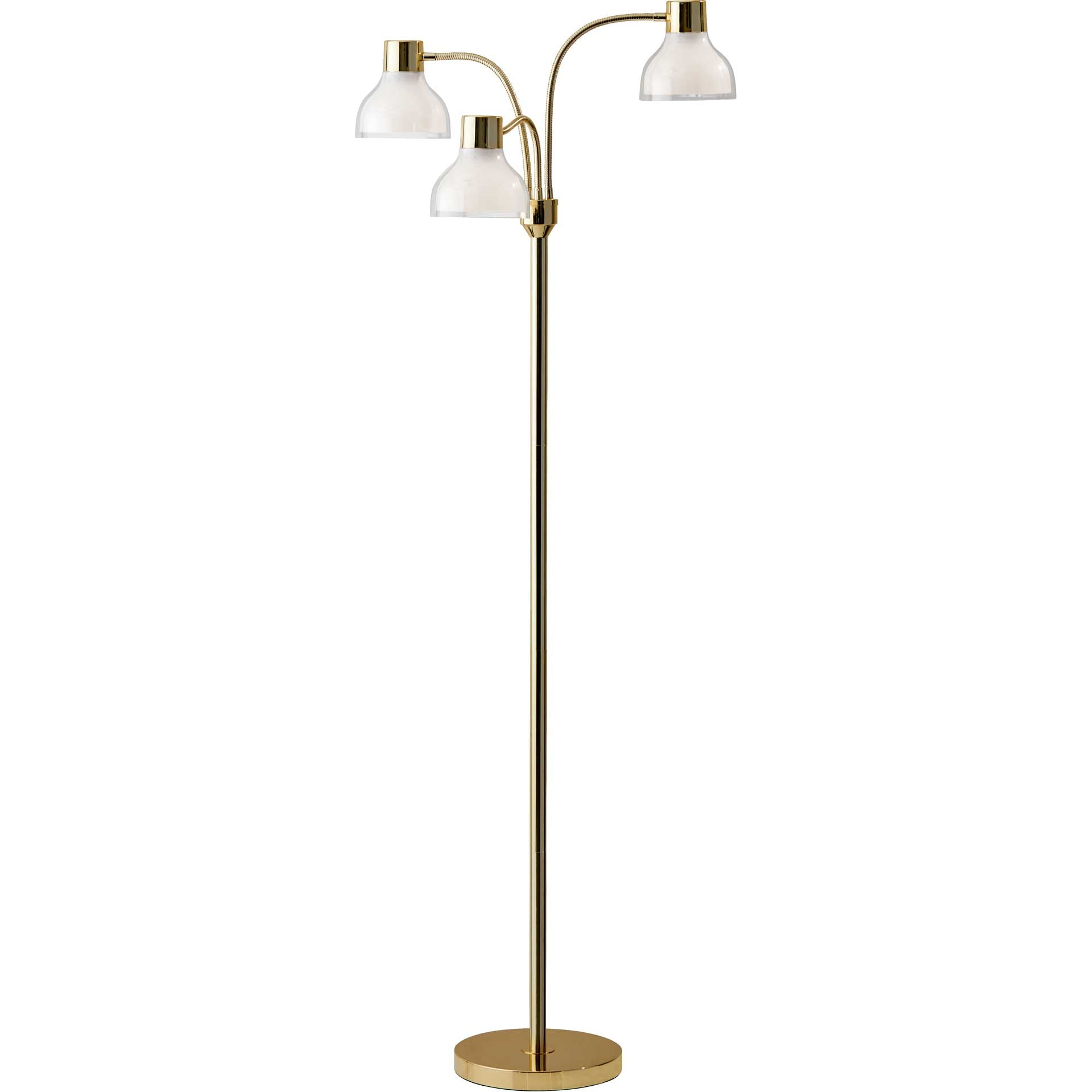 Priest 3-Arm Floor Lamp Gold