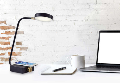 Colomiers Wireless Charge Desk Lamp Black/Brass