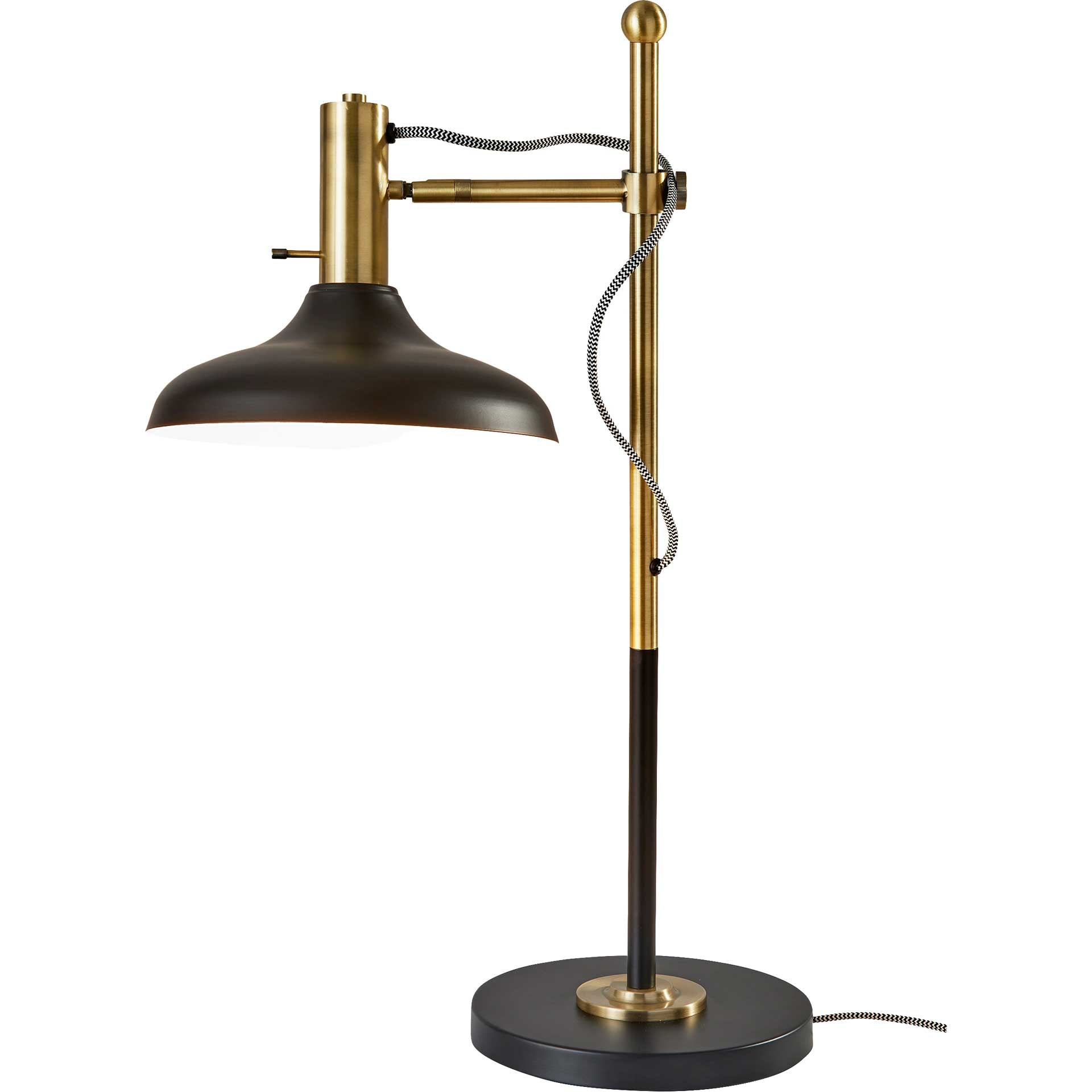 Keith Desk Lamp Black/Antique Brass