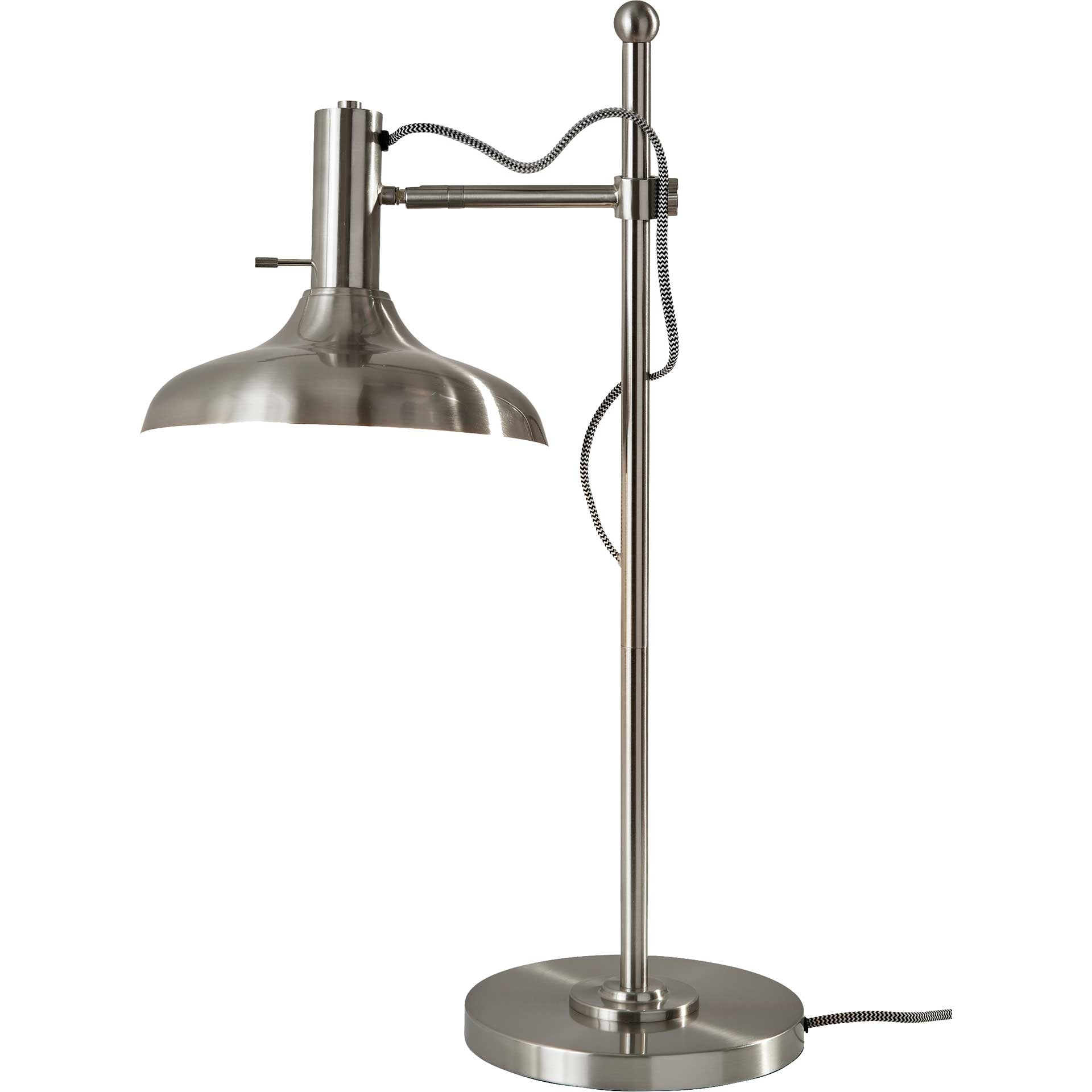 Keith Desk Lamp Brushed Steel