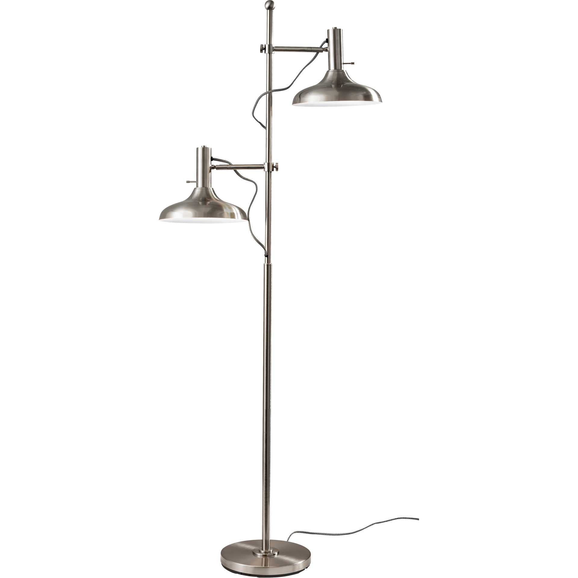 Keith Floor Lamp Brushed Steel