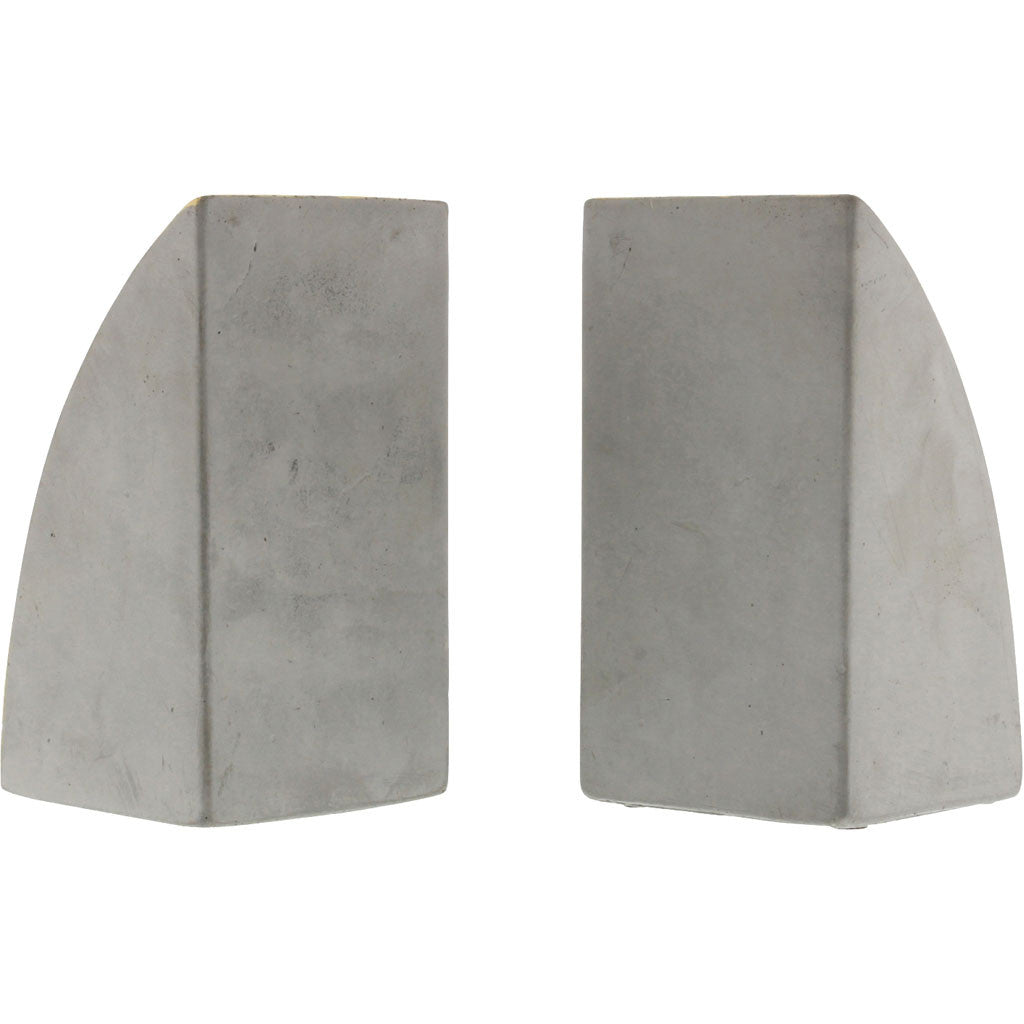 Geometric Cement Bookends Arch