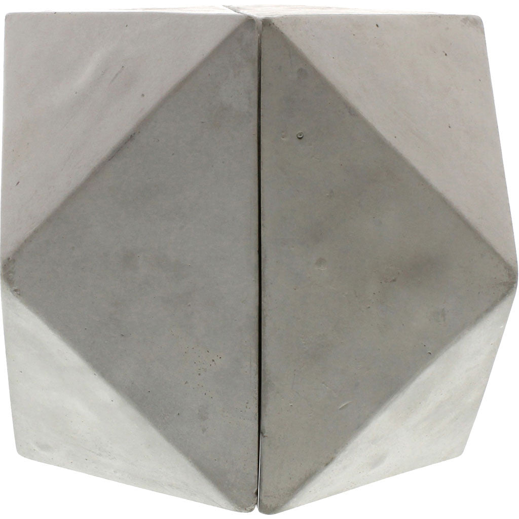 Geometric Cement Bookends Cuboctahedron