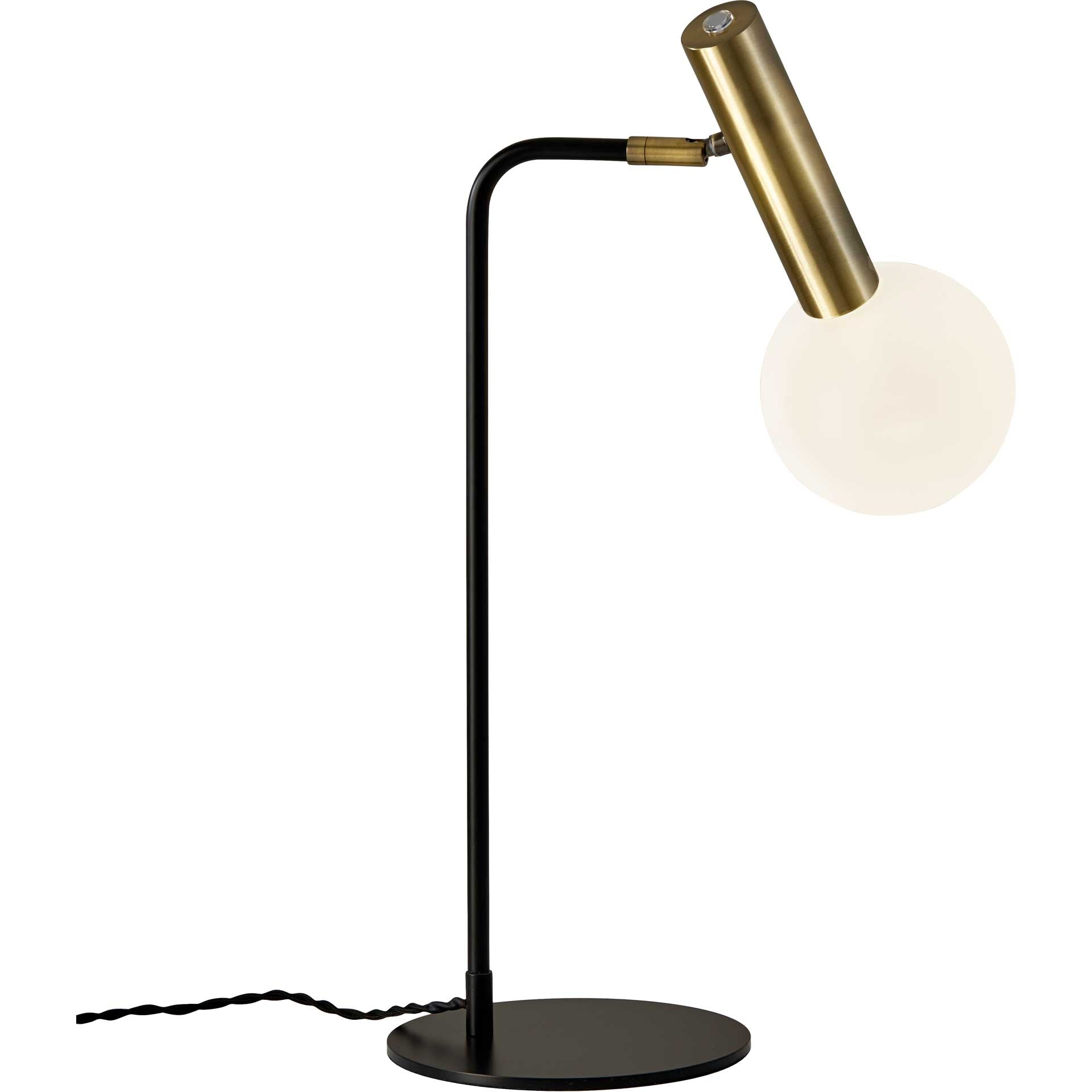 Simon LED Desk Lamp Black/Brass