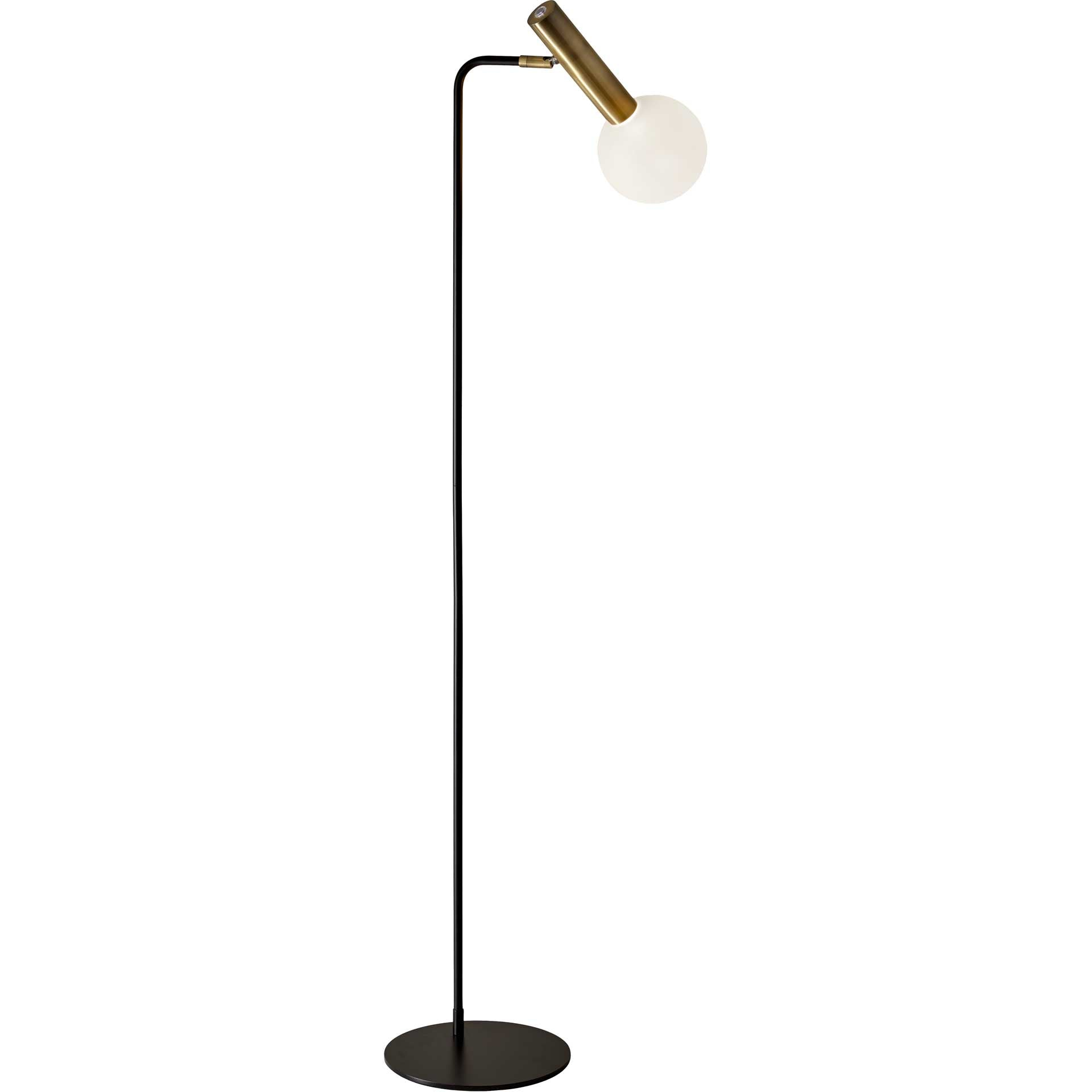 Simon LED Floor Lamp Black/Brass