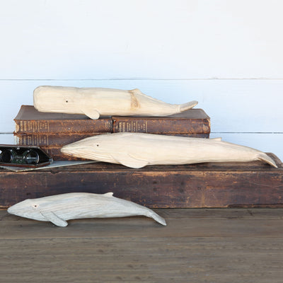 Carved Wood Blue Whale