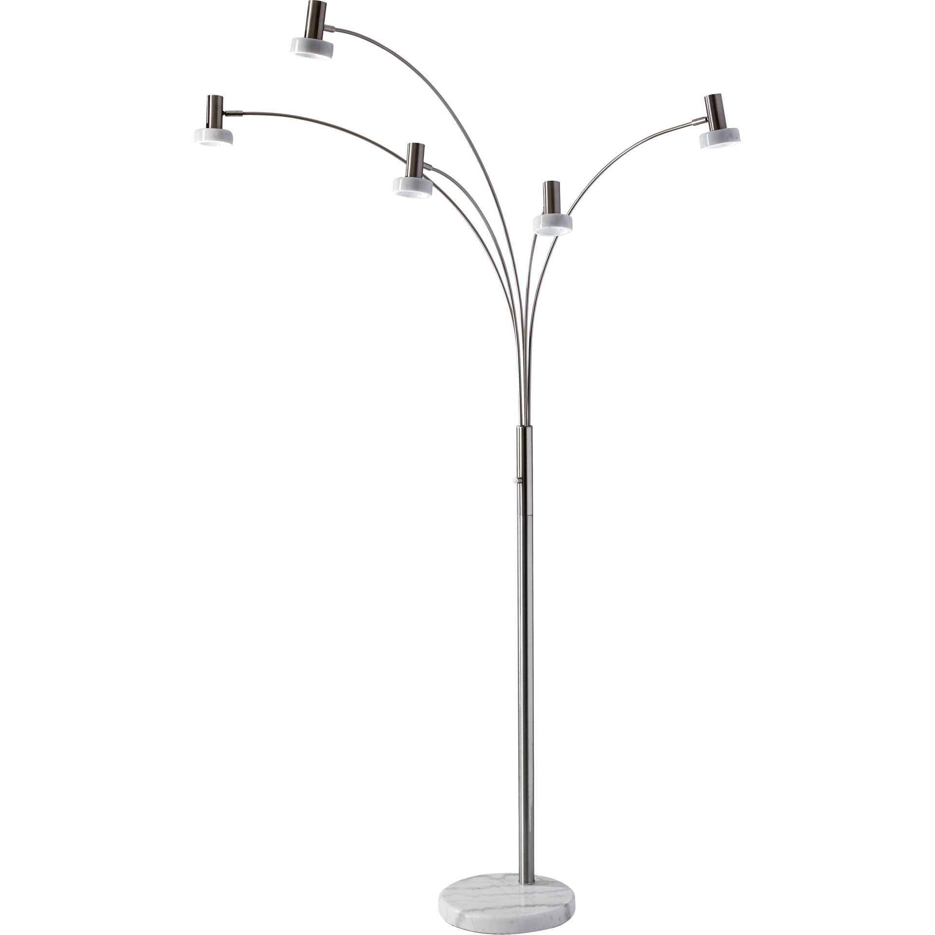 Millau LED Arc Lamp Brushed Steel