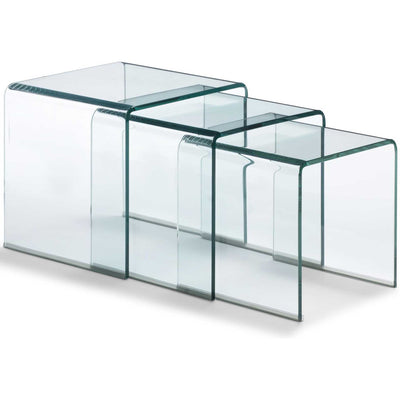 Ellsbury Nesting Table Clear Glass