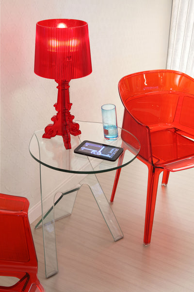 Journeyman Side Table Clear Glass