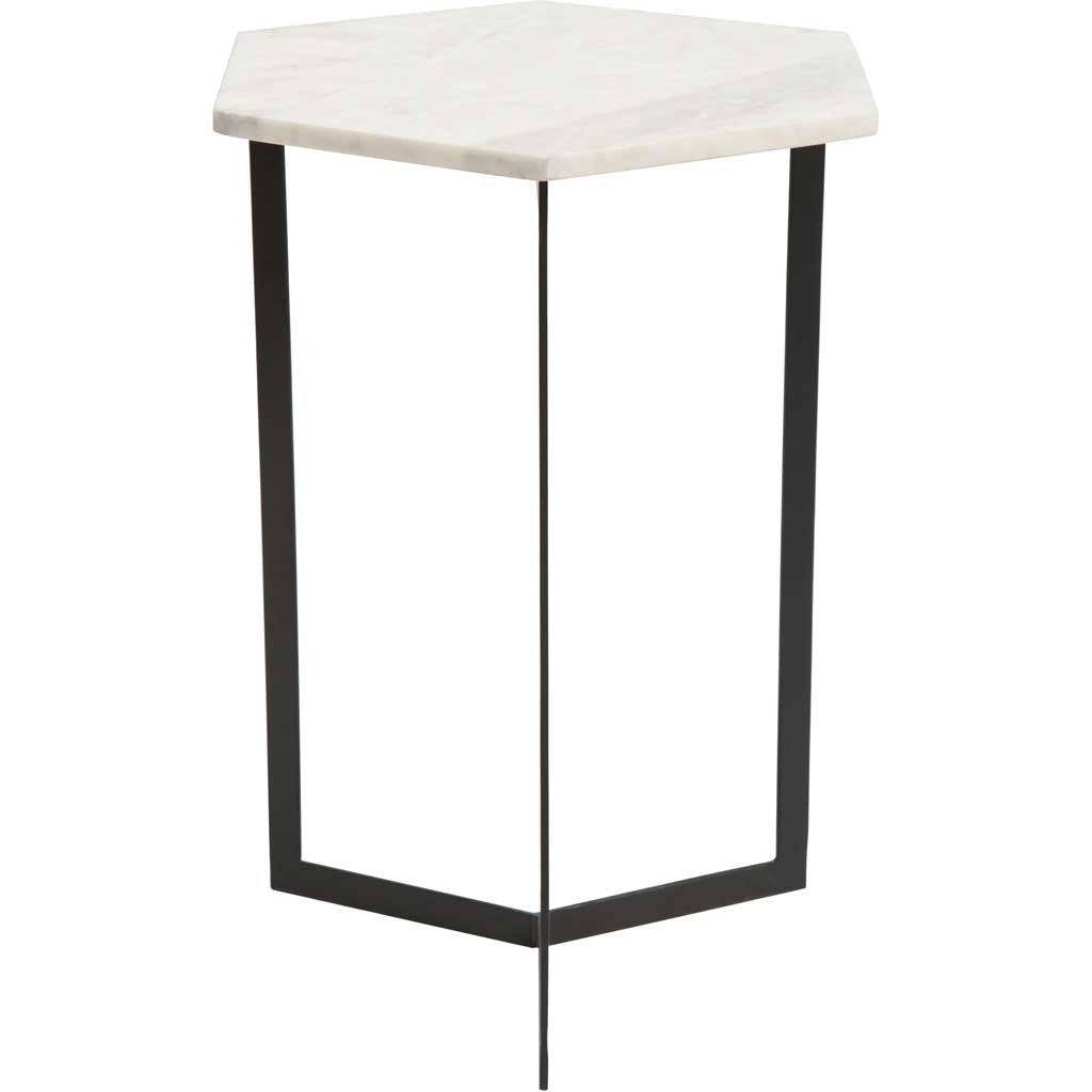 Reed Accent Table Black & White