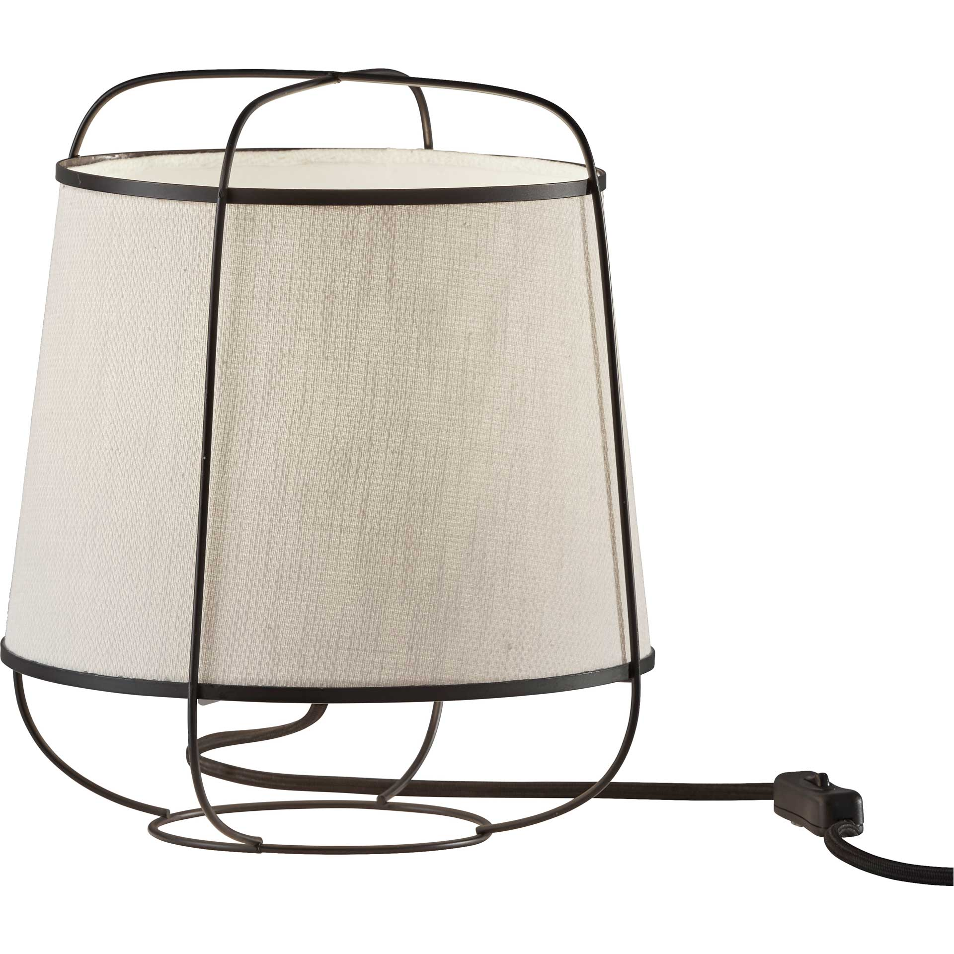 Dax Table Lantern Brushed Steel