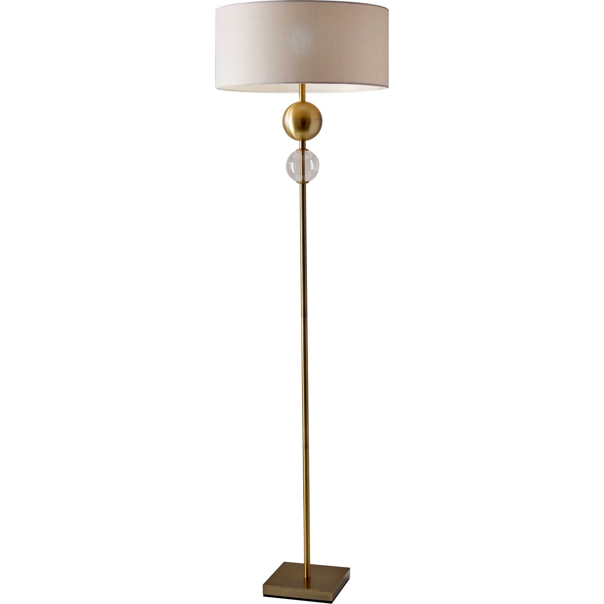 Chelles Floor Lamp Brass