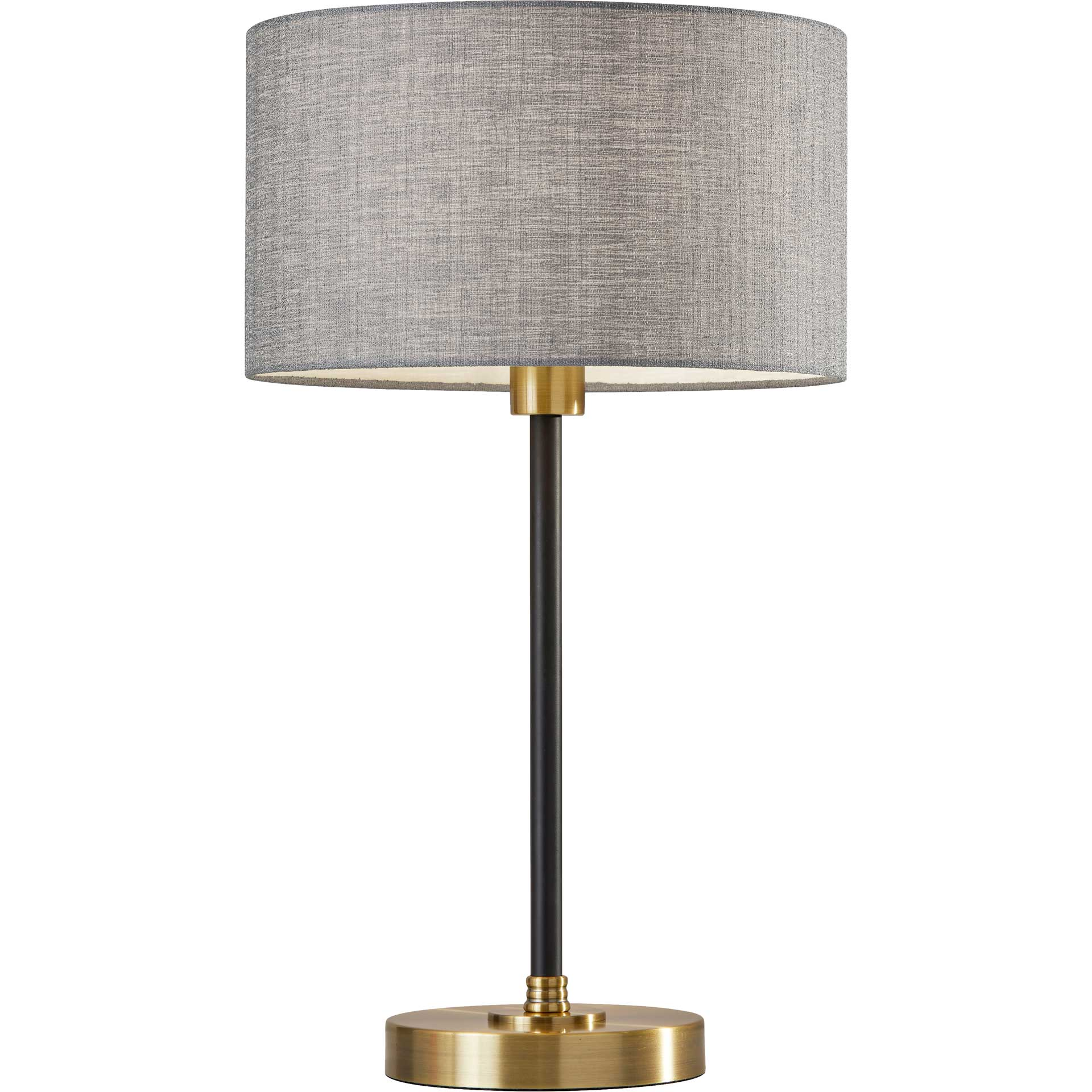 Begles Table Lamp Black/Antique Brass