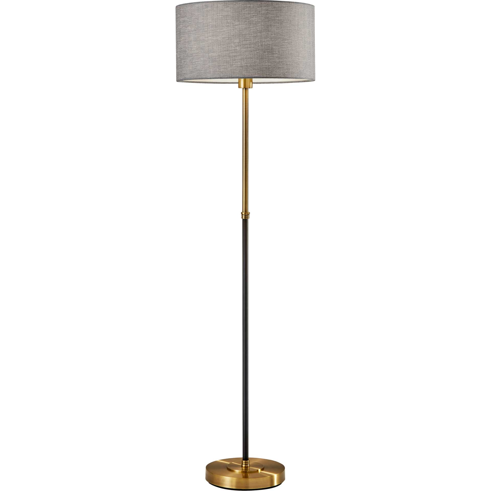 Begles Floor Lamp Black/Antique Brass