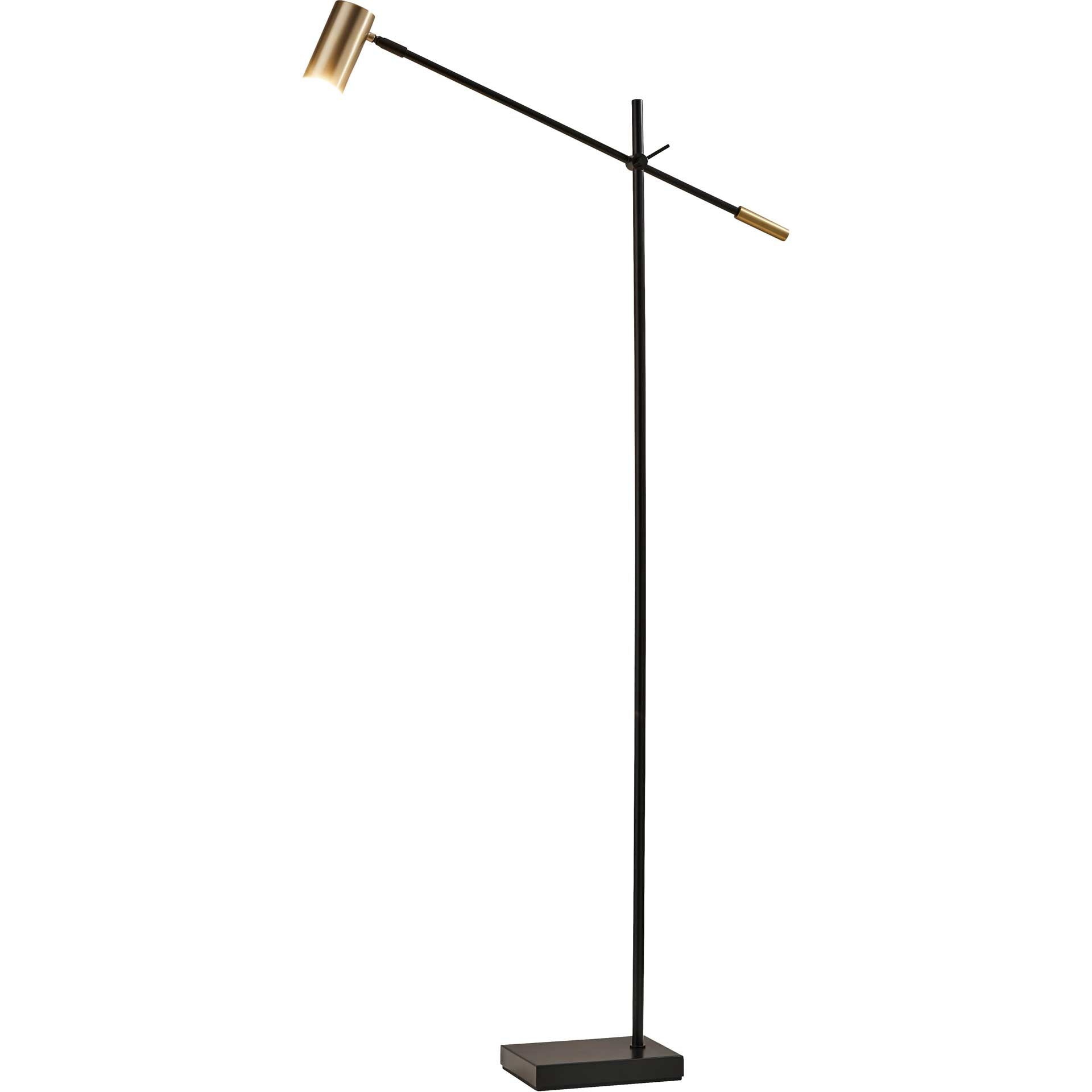 Colombes LED Floor Lamp Black/Brass