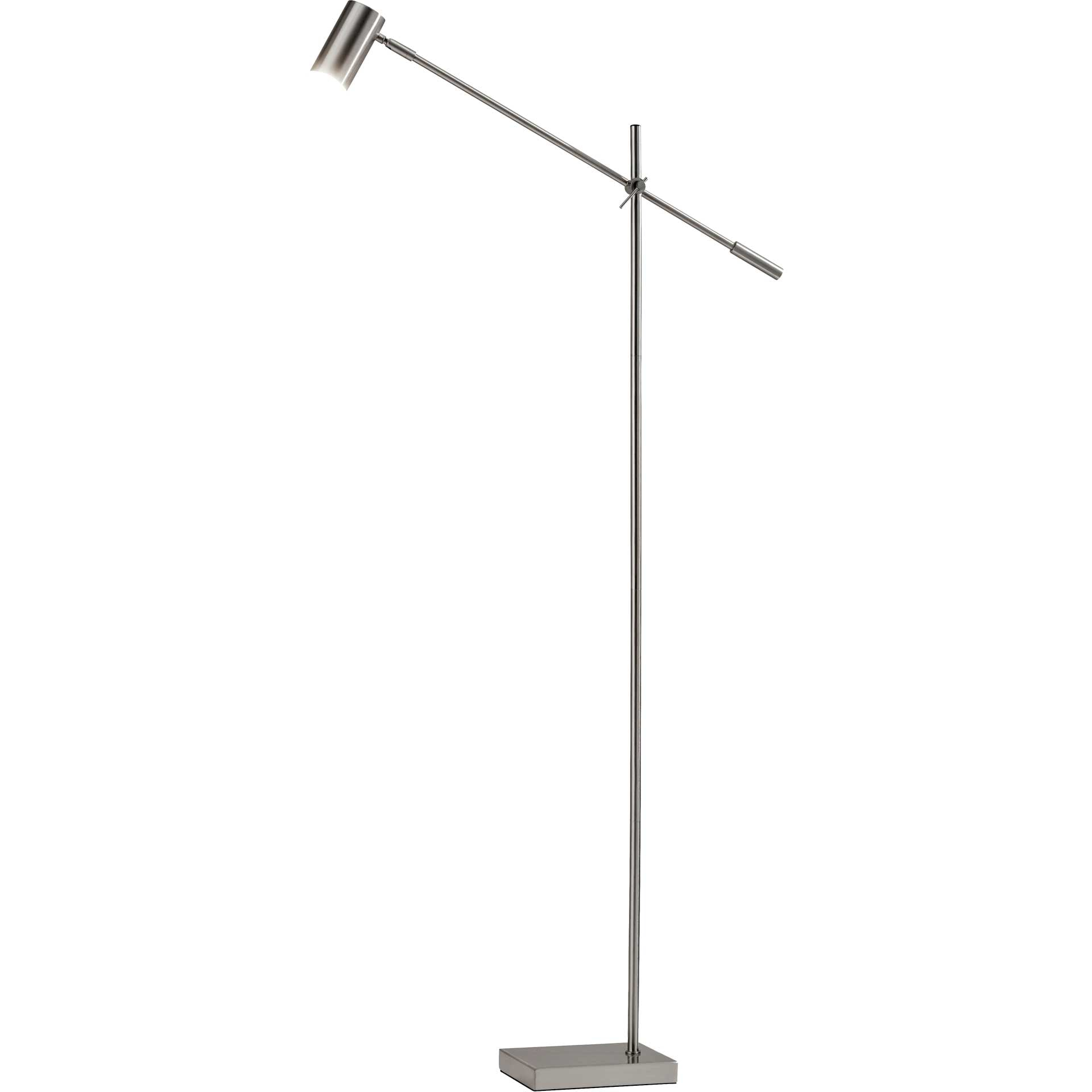 Colombes LED Floor Lamp Brushed Steel
