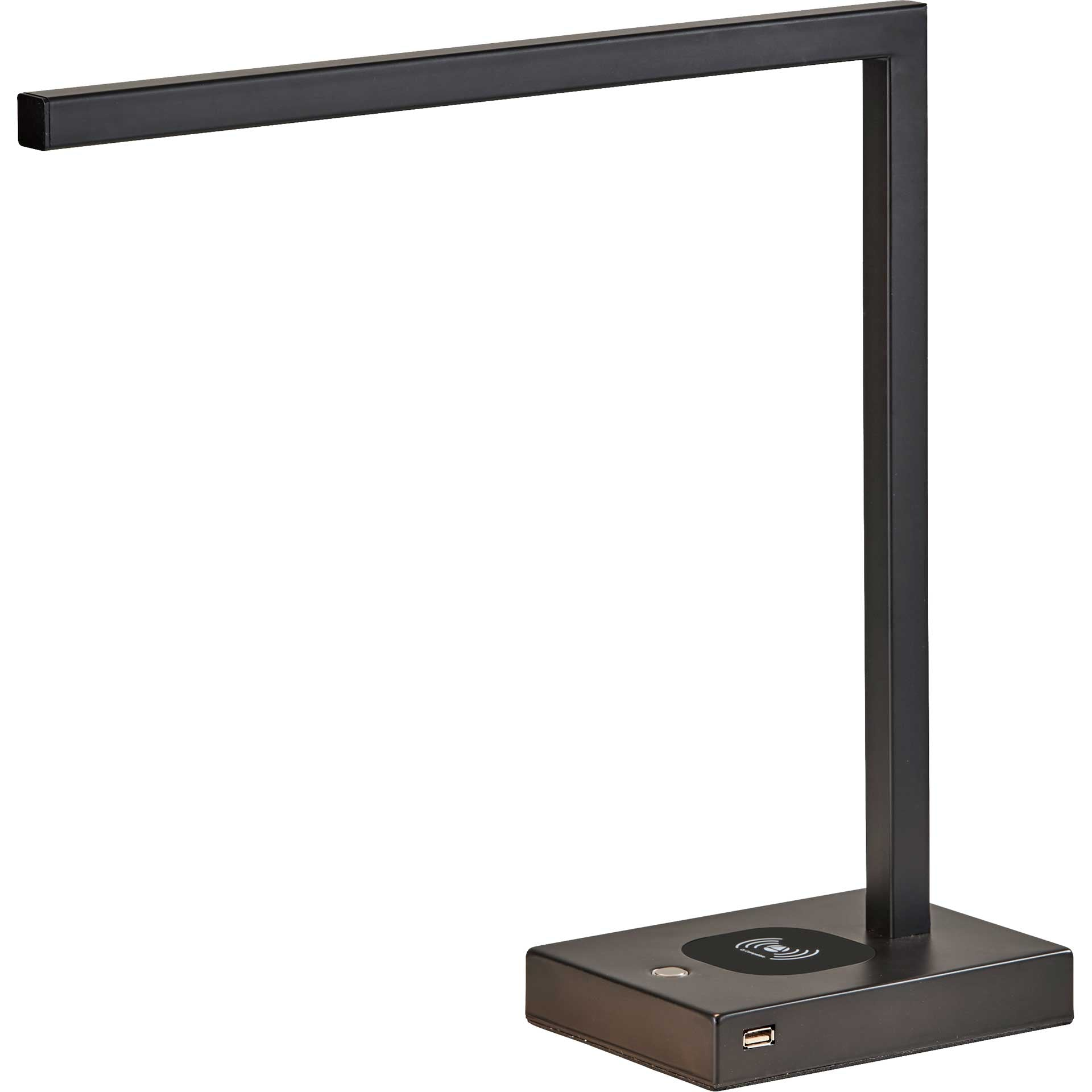 Abbeville Wireless Charge Desk Lamp Black
