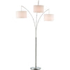 Trident Arc Lamp Brushed Steel