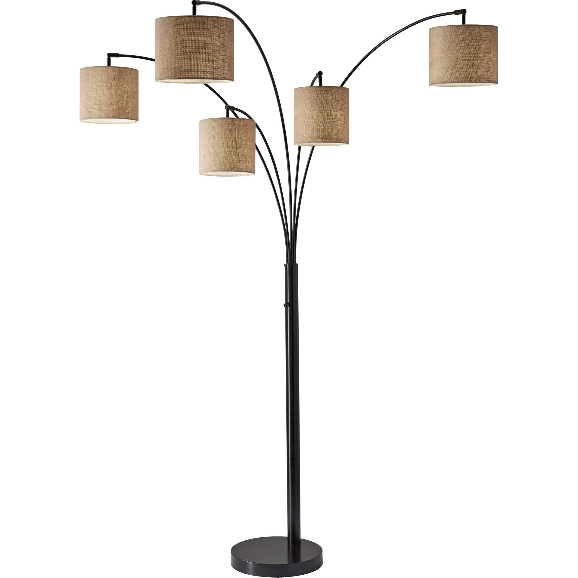 Trident 5-Arm Arc Lamp Bronze