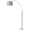 Boston Arc Lamp Brushed Steel