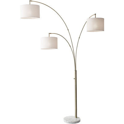 Boston 3-Arm Arc Lamp Antique Brass