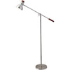 Walter Floor Lamp Brushed Steel