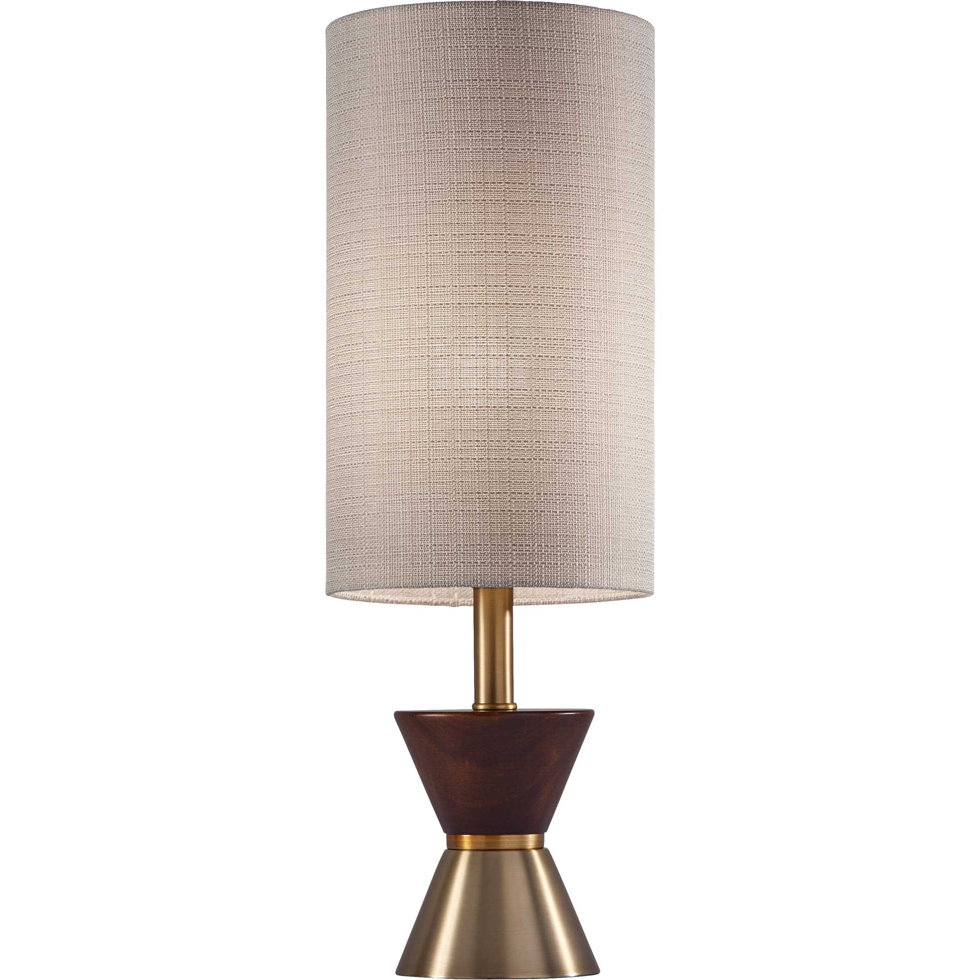 Cannet Table Lamp Brass/Walnut