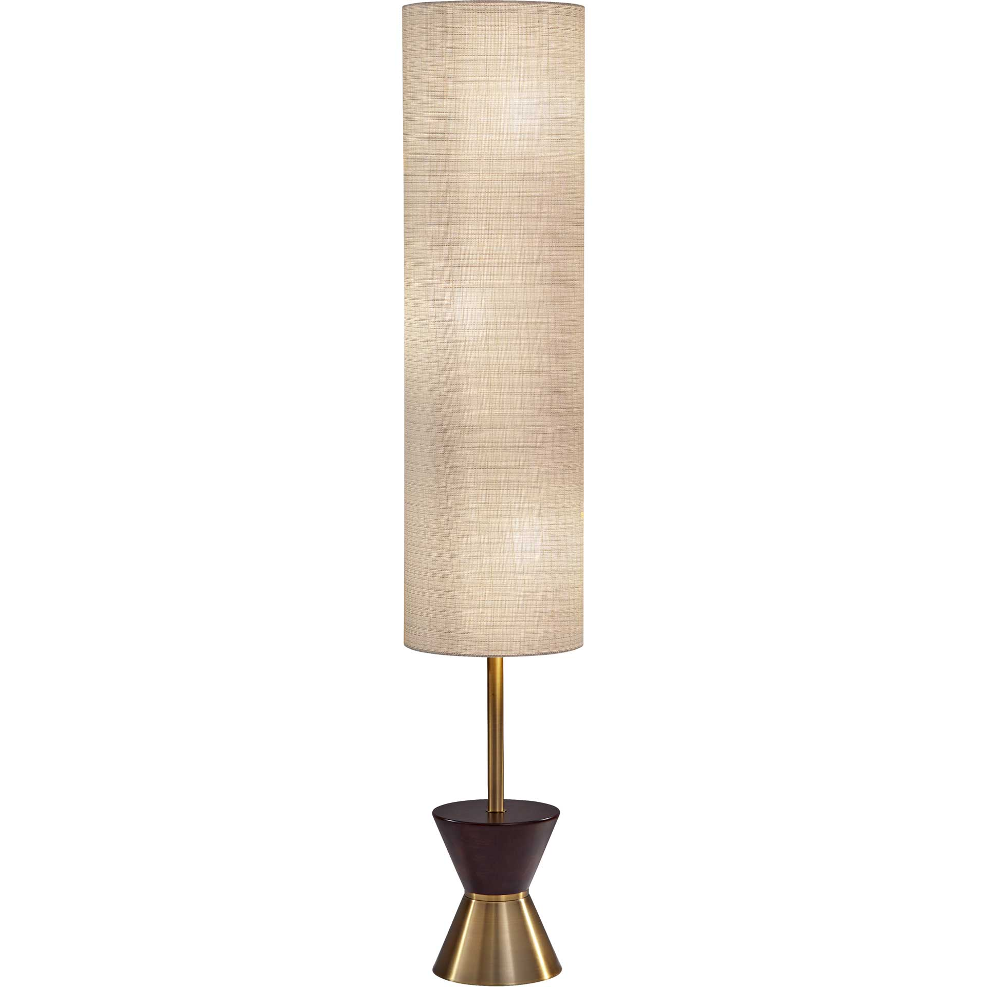 Cannet Floor Lantern Brass/Walnut